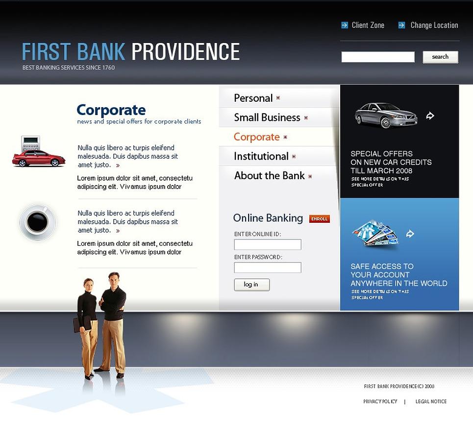 Bank Website Templates