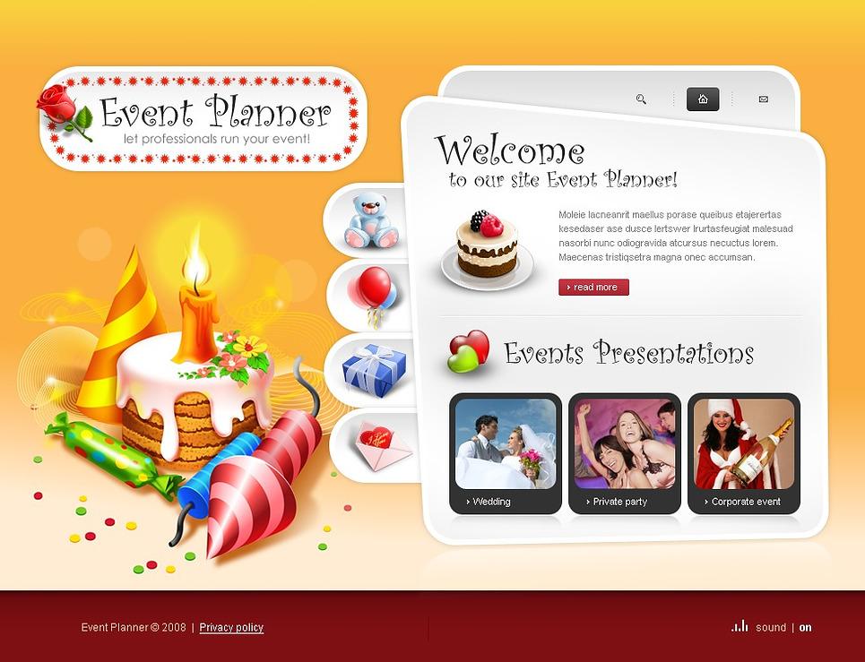 Event Planner Flash Template New Screenshots BIG