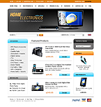 Template #20399  Keywords: home electronics store online shop delivery computer office staff printer notebook laptop shipment desktop portable scanner camera monitor cable system technology processor installation hardware input device memory server accessory wireless pc connection