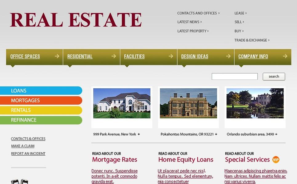 Real Estate Agency Website Template New Screenshots BIG