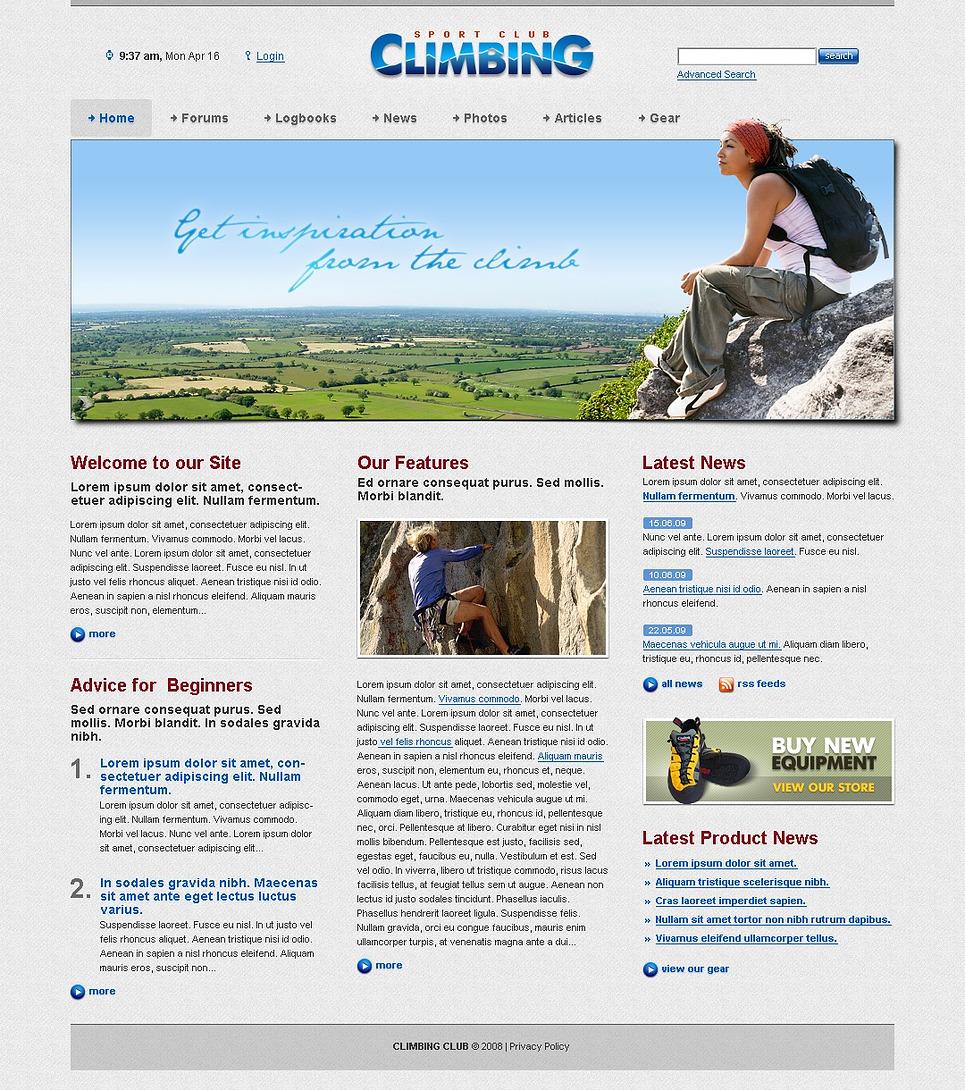 Climbing Website Template New Screenshots BIG