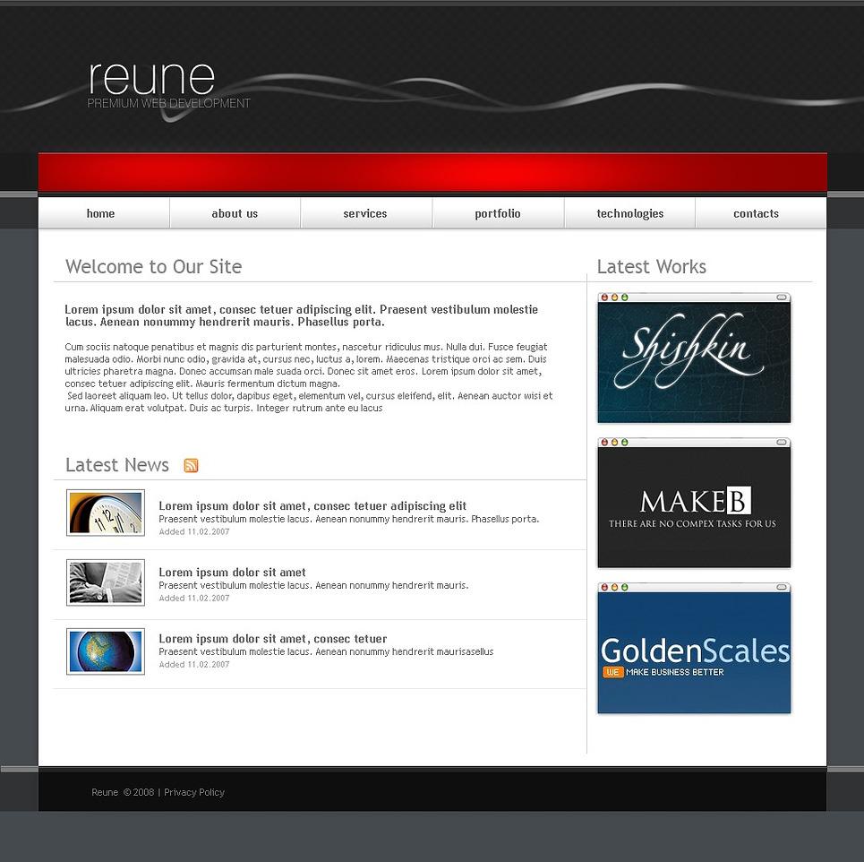 web development website template 20591. Black Bedroom Furniture Sets. Home Design Ideas