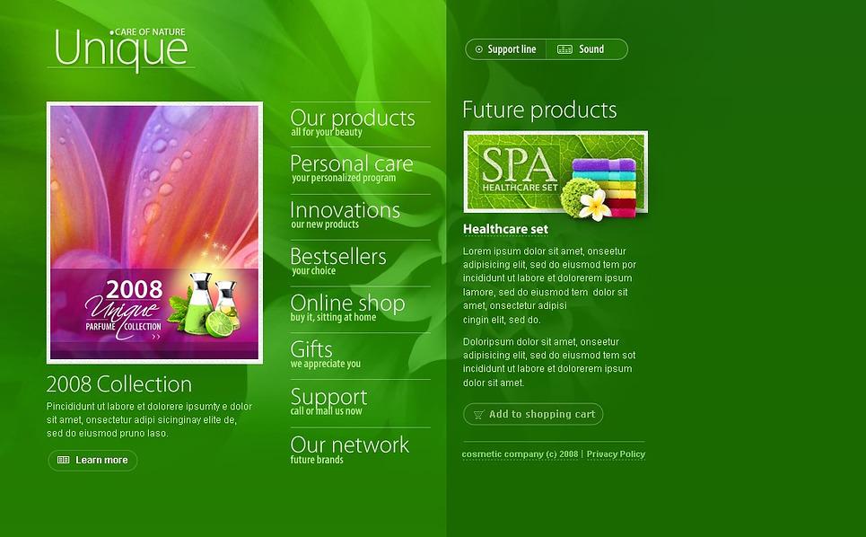 Cosmetics Store Flash Template New Screenshots BIG