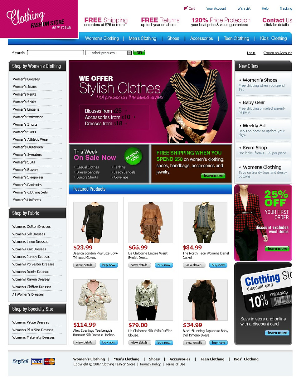 Apparel Website Template New Screenshots BIG