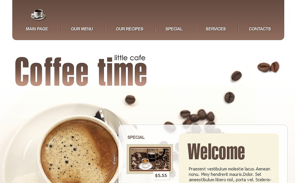 Coffee Shop Website Template New Screenshots BIG