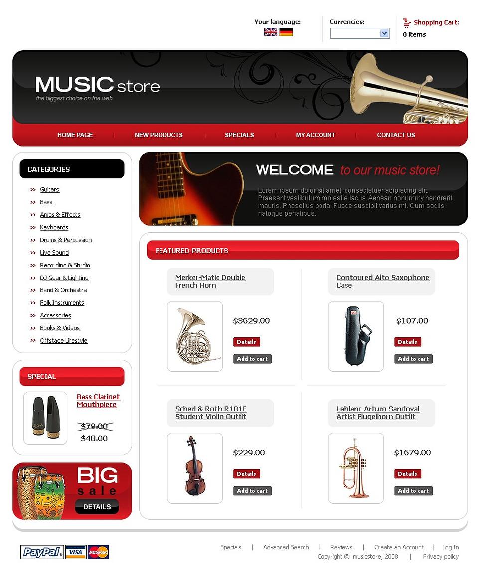 Music Store CRE Loaded Template New Screenshots BIG