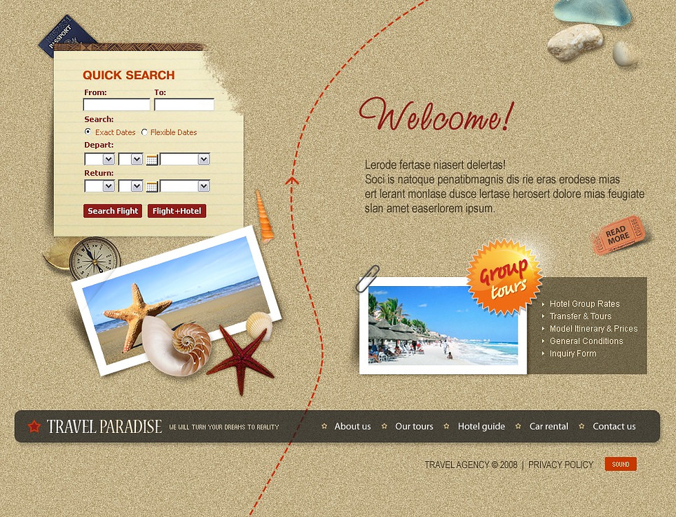 Travel Agency Flash Template New Screenshots BIG