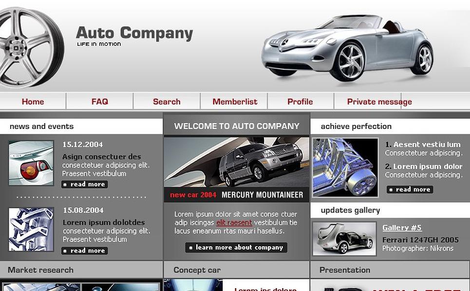 Car PhpBB Template New Screenshots BIG