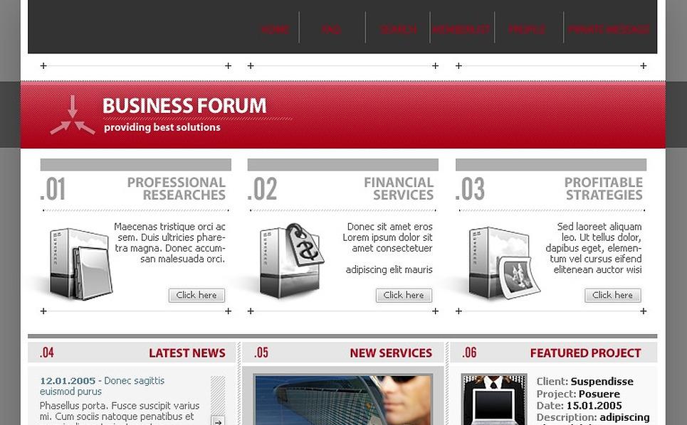 Business PhpBB Template New Screenshots BIG