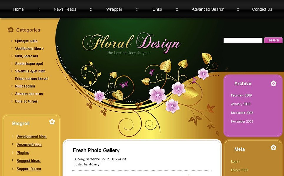 Flowers Joomla Template New Screenshots BIG