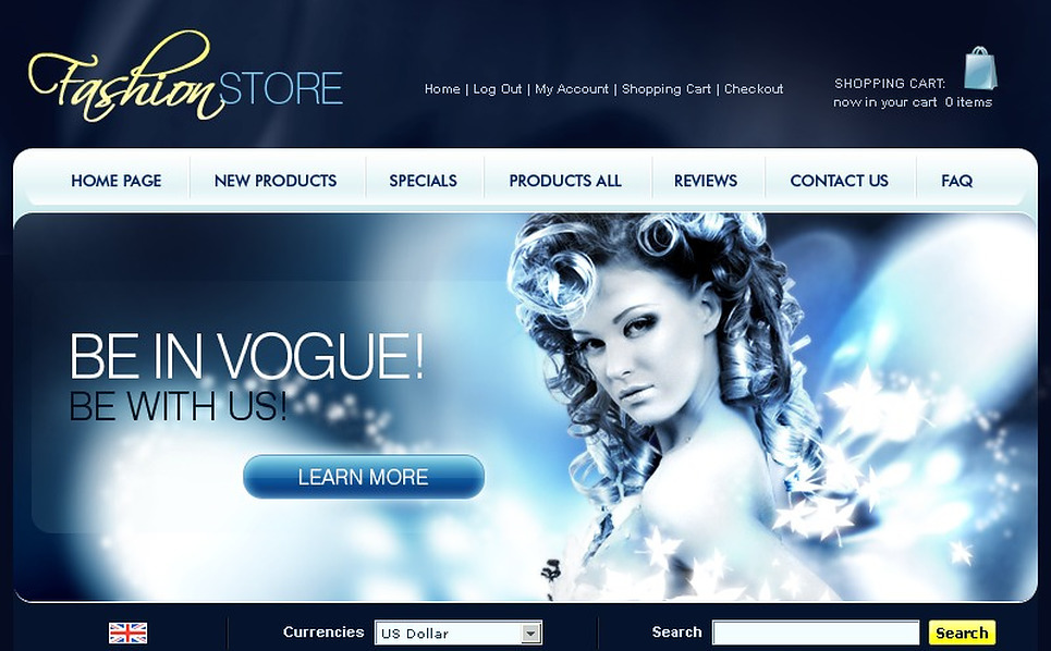 Fashion Store ZenCart Template New Screenshots BIG