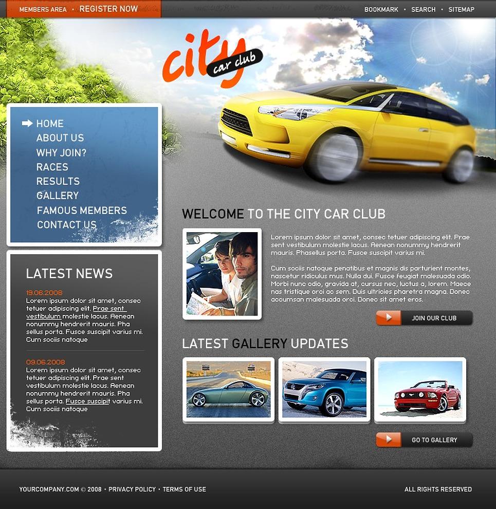 Car Club Website Template New Screenshots BIG