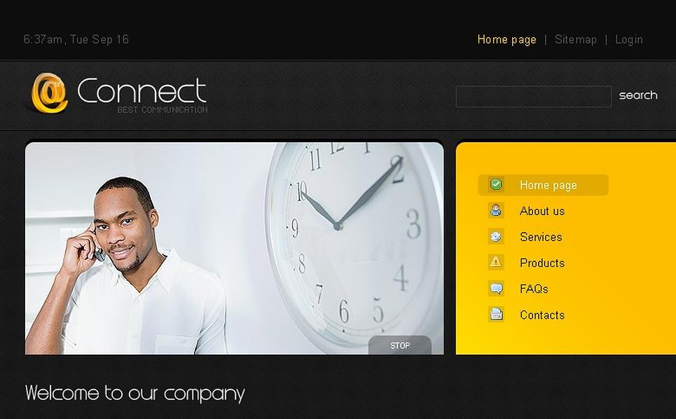 Communications Website Template New Screenshots BIG