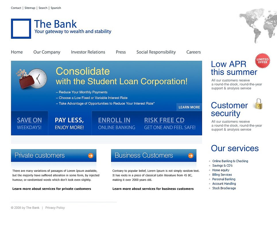 html templates for banking website free download