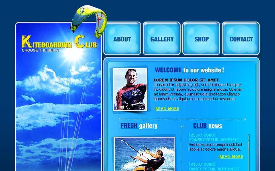 Kitesurfing Flash Template New Screenshots BIG