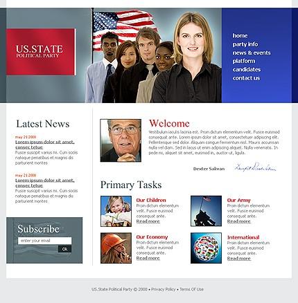 Заказ создания сайта или интернет магазина на тему Политика, на основании шаблона №21383.