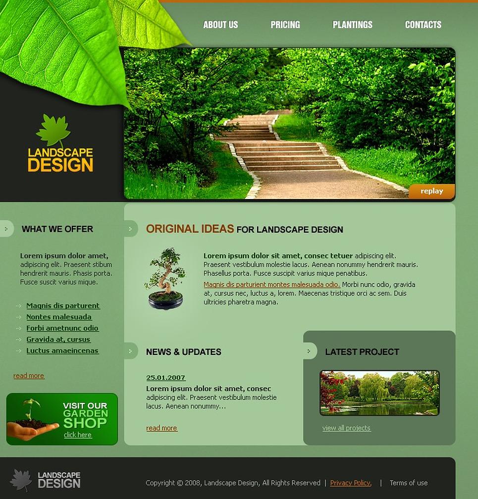 Landscape design swish template 21460 for Garden design questions