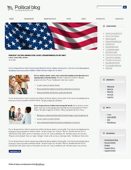 Заказ создания сайта или интернет магазина на тему Политика, на основании шаблона №21504.