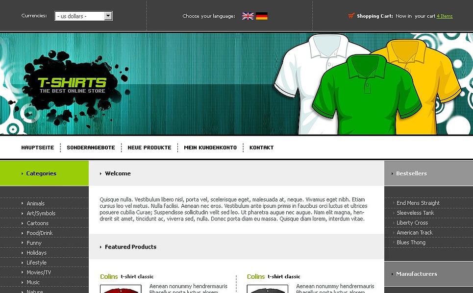 T-shirt Shop CRE Loaded Template New Screenshots BIG