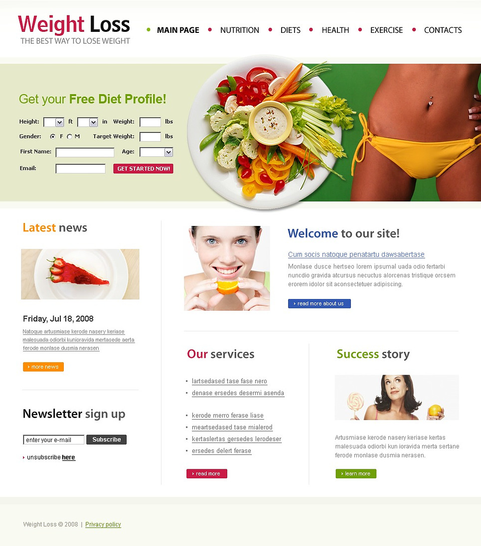 Weight Loss Website Template New Screenshots BIG