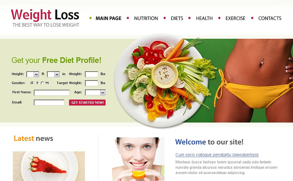 Weight Loss Website Template New Screenshots BIG
