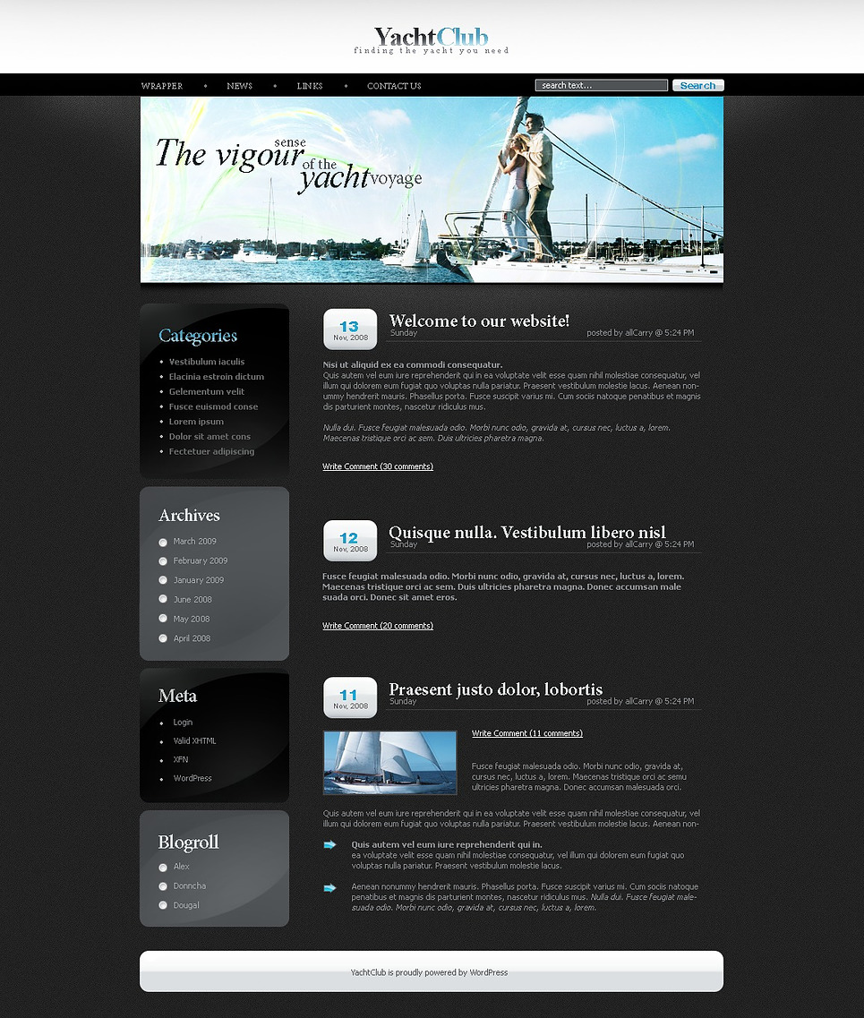 Yachting WordPress Theme New Screenshots BIG