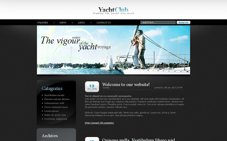 Yachting WordPress Theme New Screenshots BIG