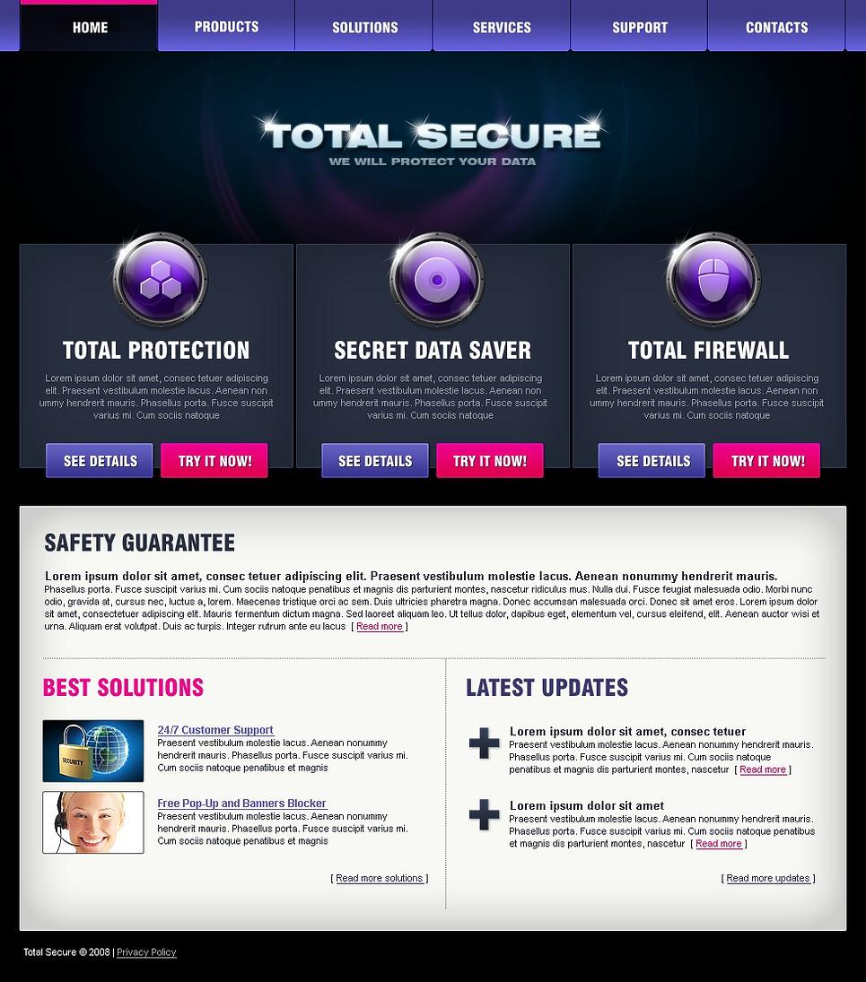 Information Security Website Template - Web Design Templates ...
