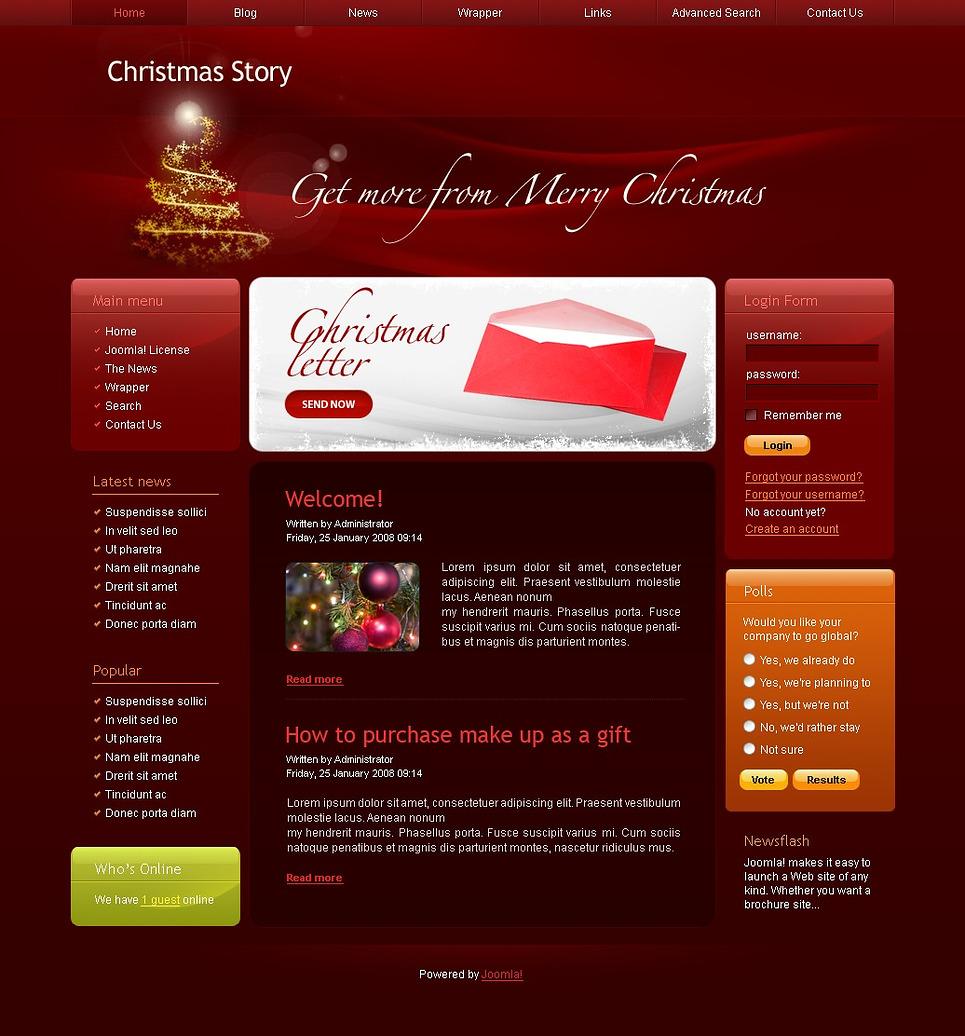 Christmas Joomla Template New Screenshots BIG