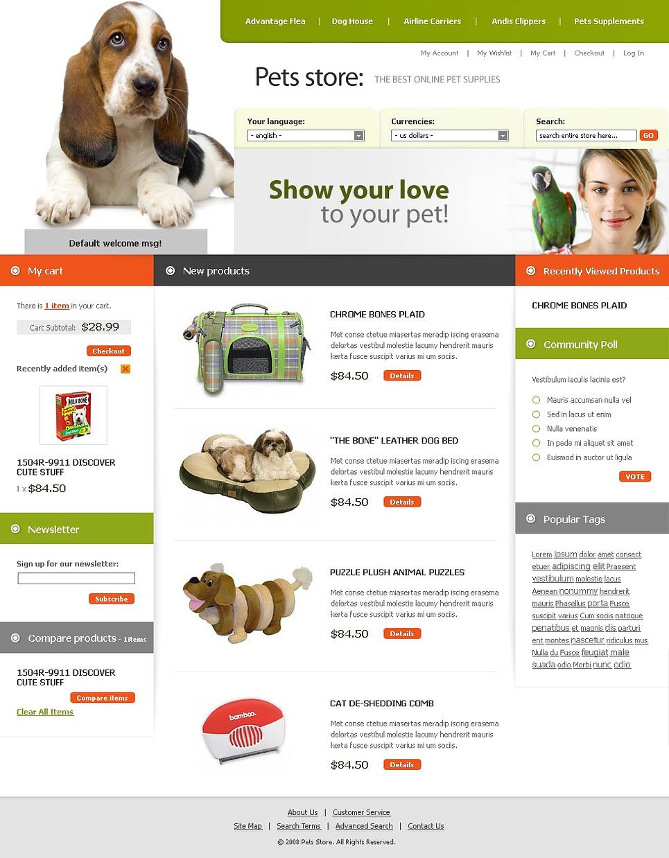 Smart Pet Shop Magento Theme