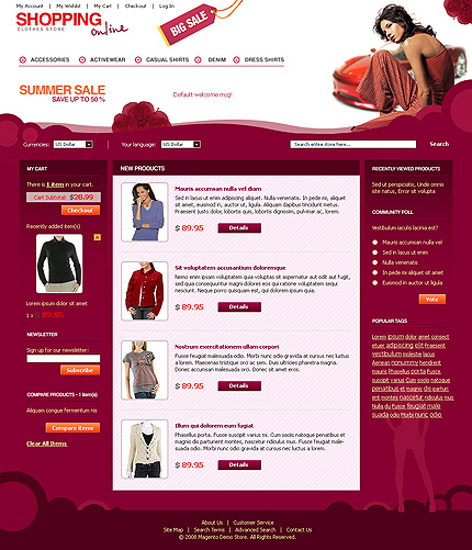 Shopping Online - Best Apparel Magento Store Template