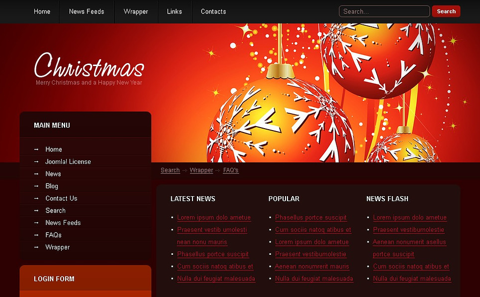 Christmas Joomla Template New Screenshots BIG