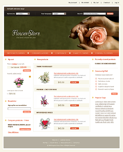 Flower store - Beautiful Florist Store Magento Theme