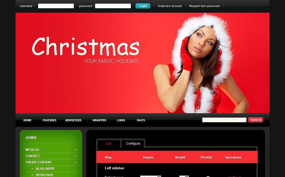 Christmas Drupal Template New Screenshots BIG