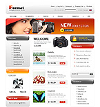 Template #21951  Keywords: format photo & video online store shop camera products electronics  portable monitor cable system technology processor installation hardware memory