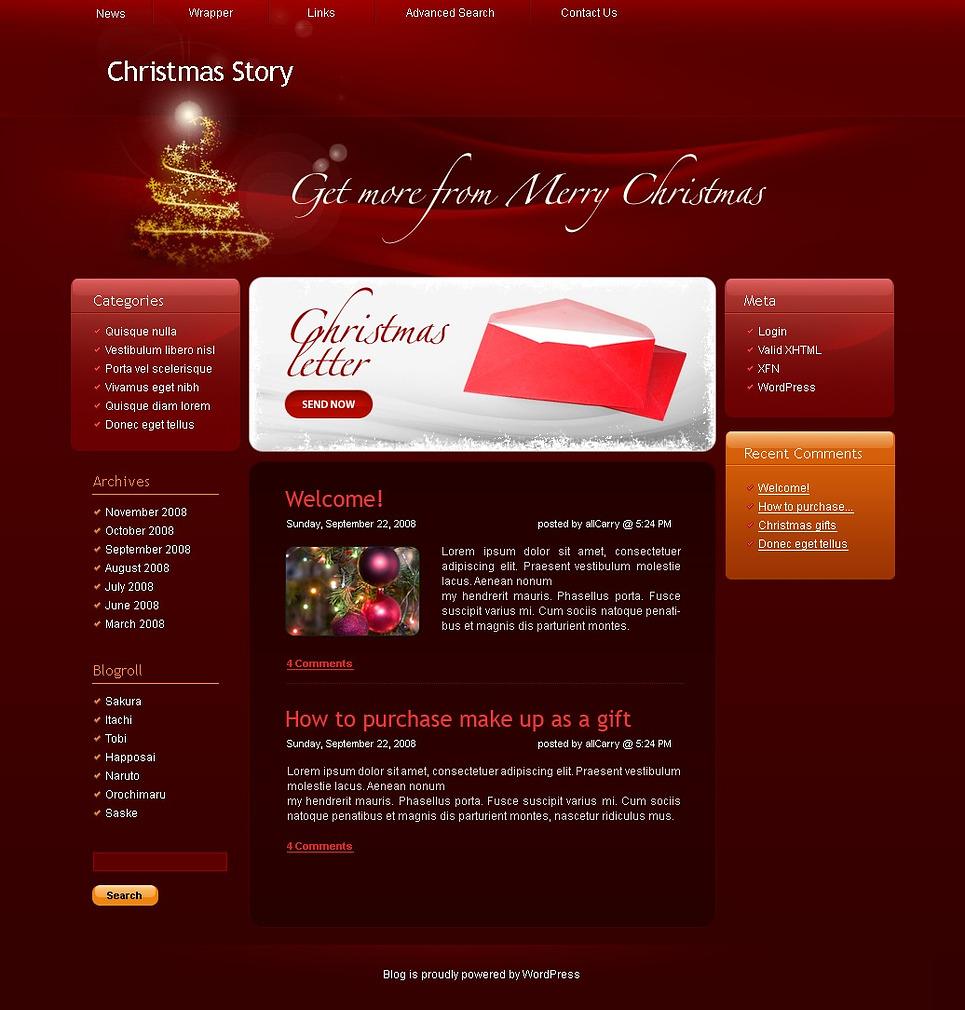 Christmas WordPress Theme New Screenshots BIG