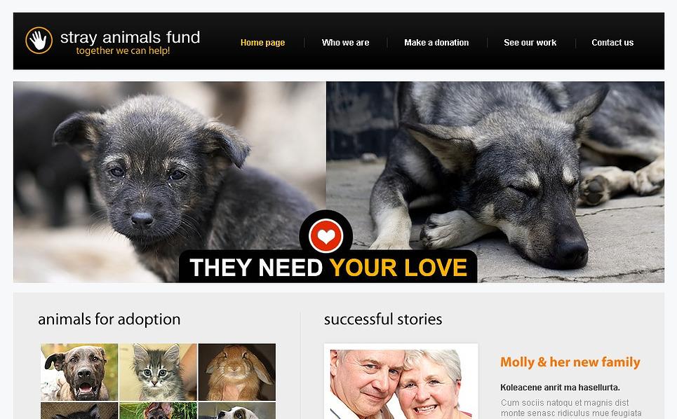 Animal Shelter Website Template New Screenshots BIG