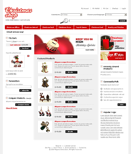 Christmas shop - Best Magento Holiday Theme