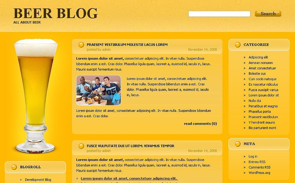 Brewery WordPress Theme New Screenshots BIG