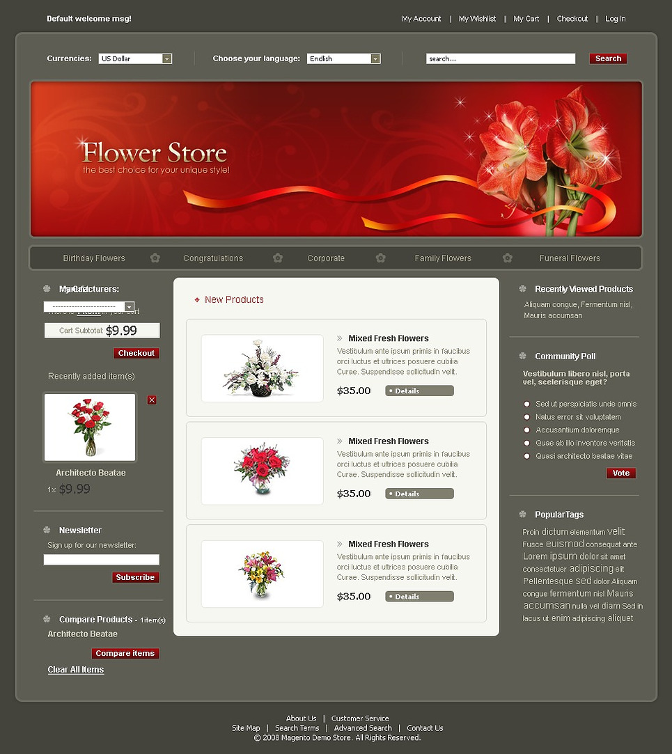 Flower Shop Magento Theme New Screenshots BIG