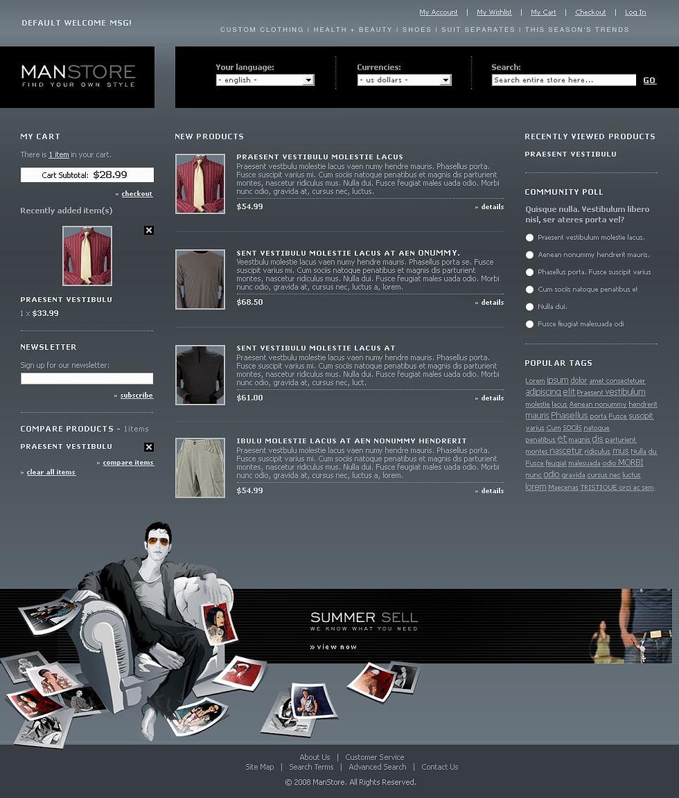 Apparel Magento Theme New Screenshots BIG