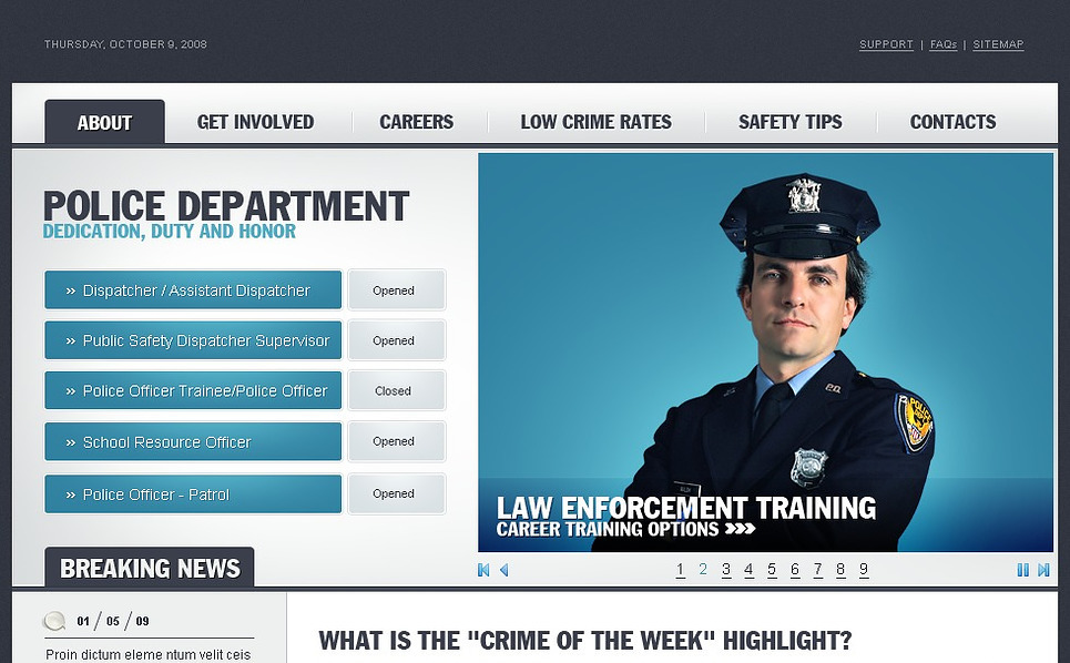 Police Website Template New Screenshots BIG