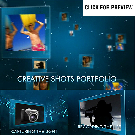 Photographer Portfolio Flash Intro Template FLASH INTRO SCREENSHOT