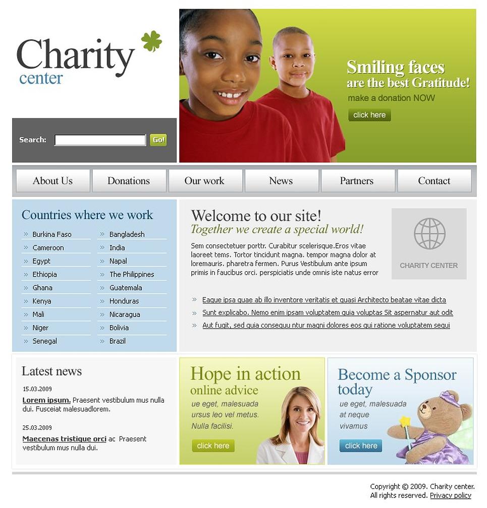 Charity Website Template New Screenshots BIG