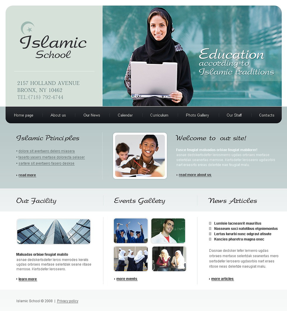 Religious School Website Template New Screenshots BIG