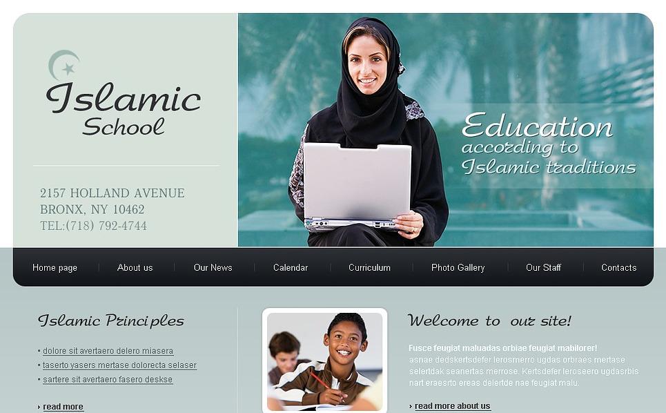 Religious School Website Template New Screenshots BIG