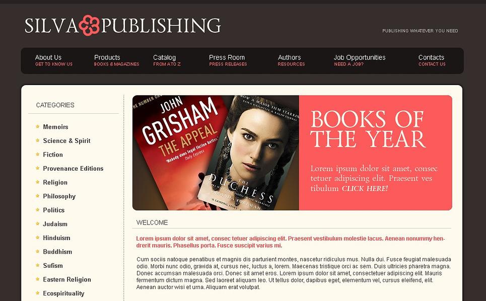Publishing Company Website Template New Screenshots BIG
