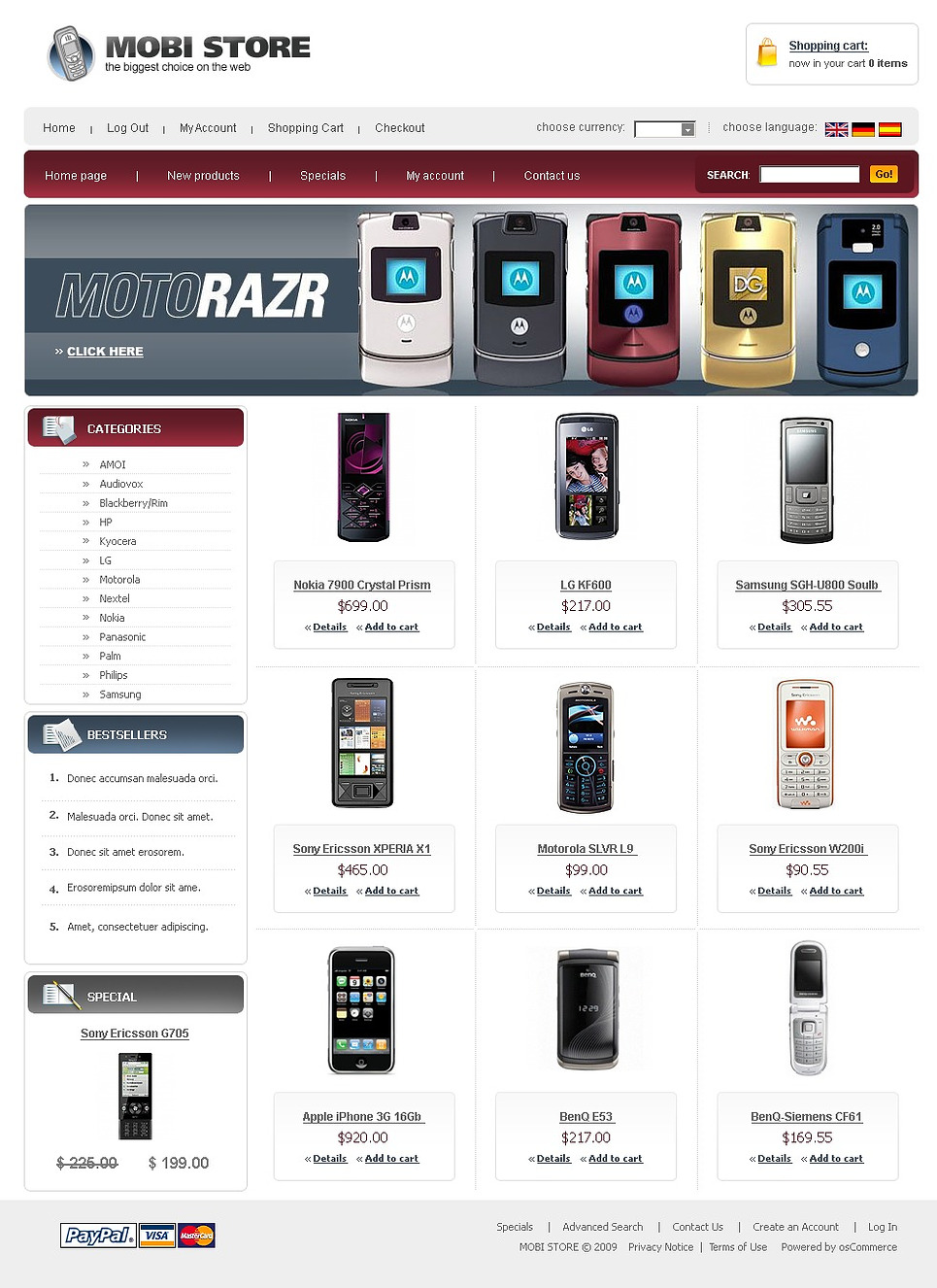 Basic but Trendy Mobile Store Template
