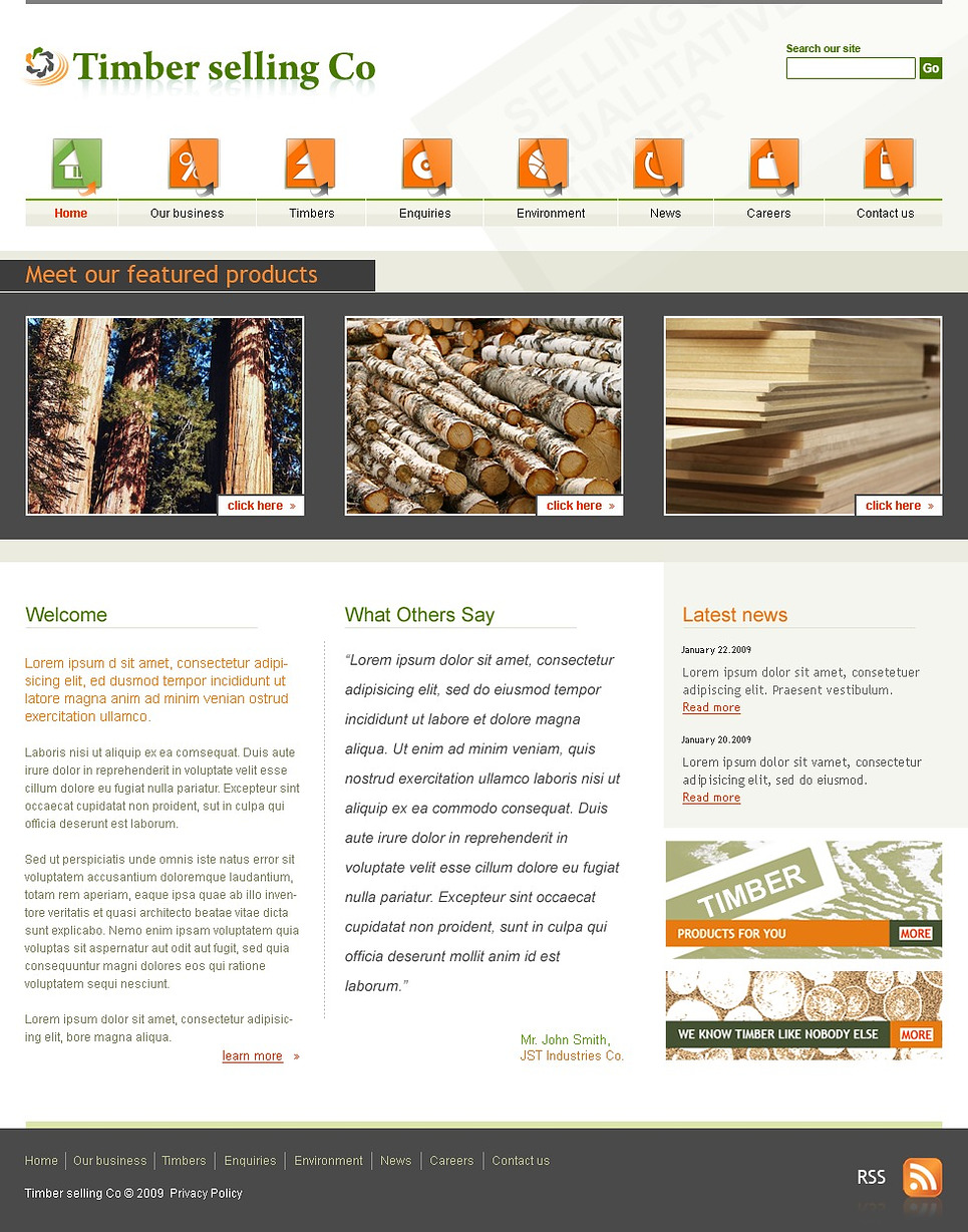 Timber Website Template New Screenshots BIG