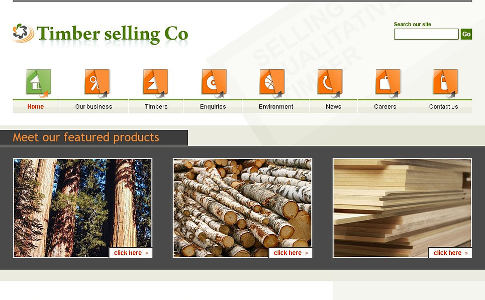 Timber Website Template New Screenshots BIG